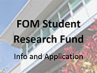 VIU FOM Student Research Fund